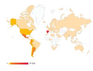 Los lectores de nuestro blog provienen de todas partes del mundo...